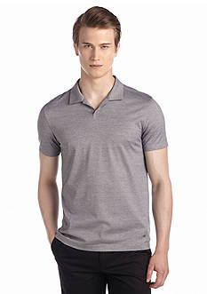 Calvin Klein Short Sleeve End On End Striped Polo Shirt