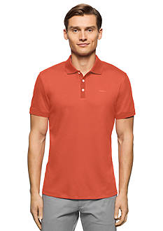 Calvin Klein Liquid Cotton Short Sleeve Jersey Polo Shirt