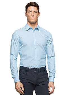 Calvin Klein Long Sleeve Cool Tech Non Iron Striped Poplin Shirt