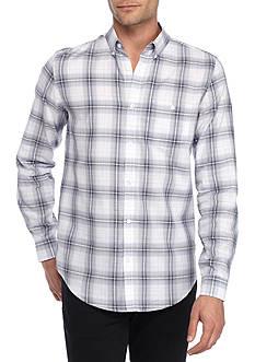 Calvin Klein Long Sleeve Light Plaid Button Down Shirt