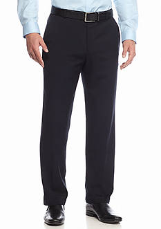 Calvin Klein Straight-Fit Flat-Front Non-Iron Twill Dress Pants