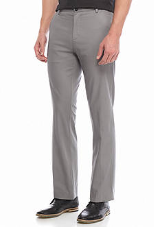 Calvin Klein Straight Fit Flat Front Chino Pants