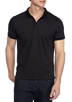 Calvin Klein Short Sleeve Striped Polo