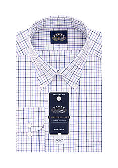 Eagle Shirtmakers Non Iron Stretch Collar Regular Fit Dress Shirt