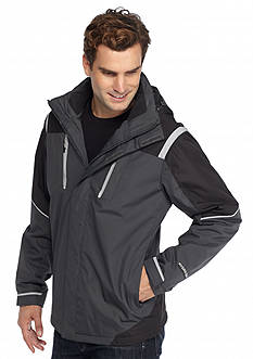 WEATHERPROOF®: 32 Degrees Hydro-Tech Twill Tech Active Hooded Jacket