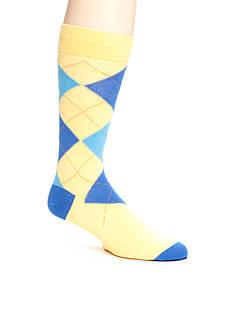 Tallia Orange Argyle Print Socks - Single Pair