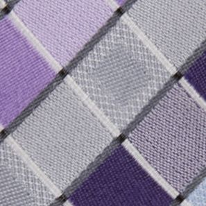 Men: Madison Accessories: Lilac Madison San Jose Square Tie