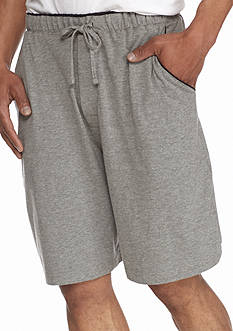 Saddlebred® Jersey Knit Lounge Shorts With Contrast Color Piping