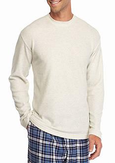 Saddlebred Long Sleeve Waffle Thermal Crew Lounge Shirt