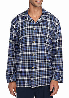 Saddlebred® Flannel Plaid Lounge Shirt