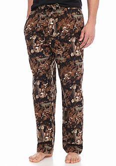 Saddlebred® Forest Deer Printed Flannel Lounge Pants