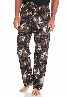 Saddlebred Big & Tall Black Lab Printed Flannel Lounge Pants