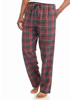Saddlebred Big & Tall Plaid Heather Flannel Lounge Pants