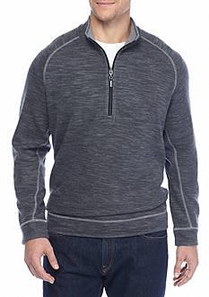 Tommy Bahama Big & Tall Reversible Slubtropic Half Zip Sweatshirt