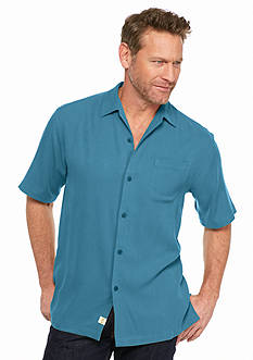 Tommy Bahama® Big & Tall Solid Havana Herringbone Shirt