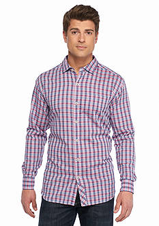 Tommy Bahama Big & Tall Cayes Check Long Sleeve Woven Shirt