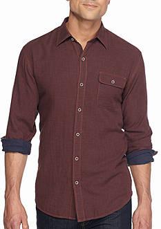 Tommy Bahama Big & Tall Long Sleeve Havana Squared Shirt