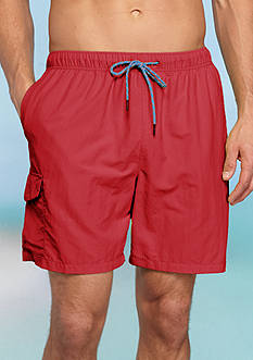 Tommy Bahama® Big & Tall Naples Happy Go Cargo Swim Trunks