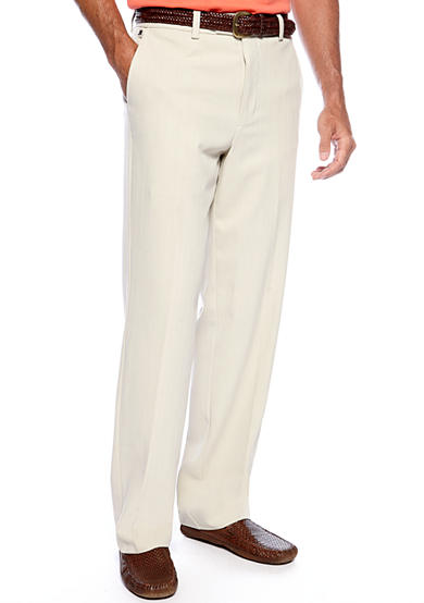 Tommy Bahama® Flying Fishbone Flat Front Pants