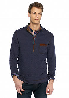 Tommy Bahama Cobble Hill Quilted Reversible 1/2 Zip Sweater