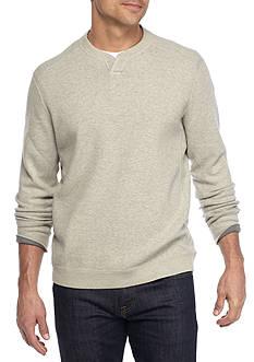 Tommy Bahama Flipside Abaco Reversible Split Crew Neck Pullover Shirt
