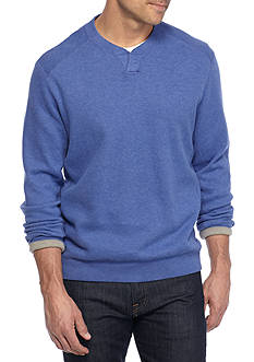 Tommy Bahama Flipside Abaco Reversible Split Crew Neck Pullover Shirt