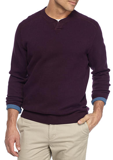 Tommy Bahama® Flipside Abaco Reversible Split Crew Neck Pullover Shirt