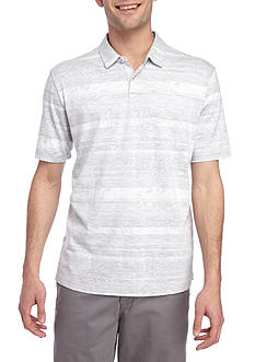 Tommy Bahama Short Sleeve Leaf on the Water Printed Polo Shirt