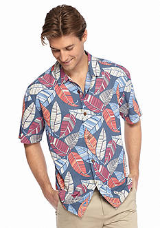 Tommy Bahama Short Sleeve Oo La La Leaf Woven Shirt
