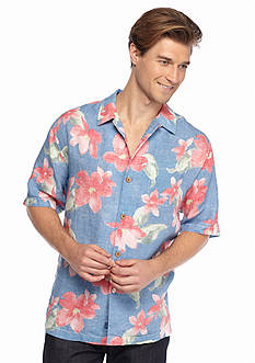 Tommy Bahama Short Sleeve Monet Hideaway Linen Shirt