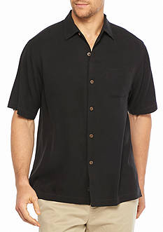 Tommy Bahama Short Sleeve Havana Herringbone Woven Shirt