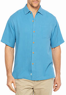 Tommy Bahama Short Sleeve Havana Herringbone Woven Shirt