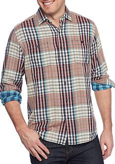 Tommy Bahama Long Sleeve Parana Plaid Button Down Shirt
