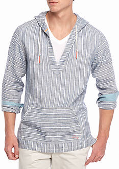 Tommy Bahama Brazilionaire Striped V Neck Hoodie
