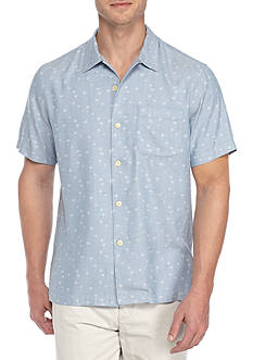 Tommy Bahama Paquena Palms Woven Oxford Button Up Shirt