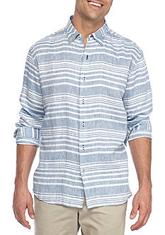 Tommy Bahama Belo Horizontal Long Sleeve Button Down Shirt