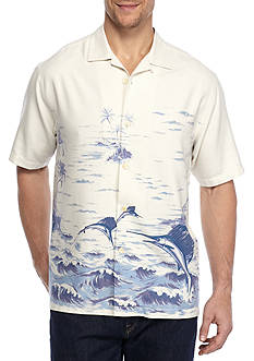 Tommy Bahama Santiago Sailfish Short Sleeve Button Down Shirt