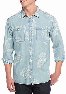 Tommy Bahama Selaron Chambray Long Sleeve Button Down Shirt