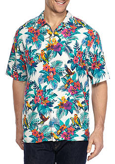 Tommy Bahama Jungle Flora Short Sleeve Button Down Shirt