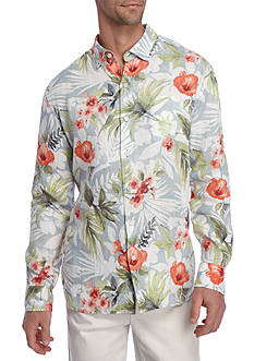 Tommy Bahama Long Sleeve Mediterranean Floral Button Down Shirt