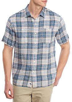 Tommy Bahama Short Sleeve Caldera Plaid Button Down Shirt