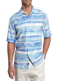 Tommy Bahama Short Sleeve Leaf On The Water Button Down Shirt