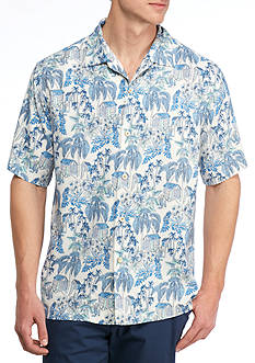 Tommy Bahama Short Sleeve Aloha Hideaway Printed Button Down Shirt