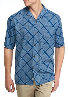 Tommy Bahama Short Sleeve Doric Diamond Button Down Shirt