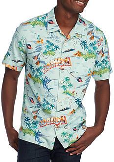 Tommy Bahama Florida Seas Short Sleeve Button Down Shirt