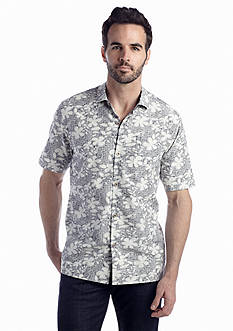 Tommy Bahama® Short Sleeve Bliss Goes On Woven Shirt