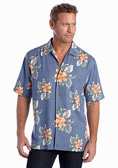 Tommy Bahama® Short Sleeve Breezy Blooms Woven Shirt