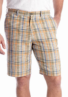 Tommy Bahama® 10-in. Flat-Front Paddleboard Plaid Shorts