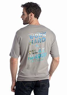 Tommy Bahama® Short Sleeve 'Work Hard, Relax Harder' Graphic Tee