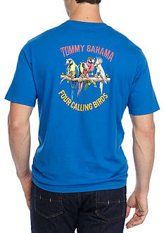 Tommy Bahama Four Calling Birds Short Sleeve Graphic Tee